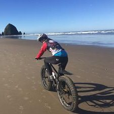 Active Family Healthcare Bike on Beach