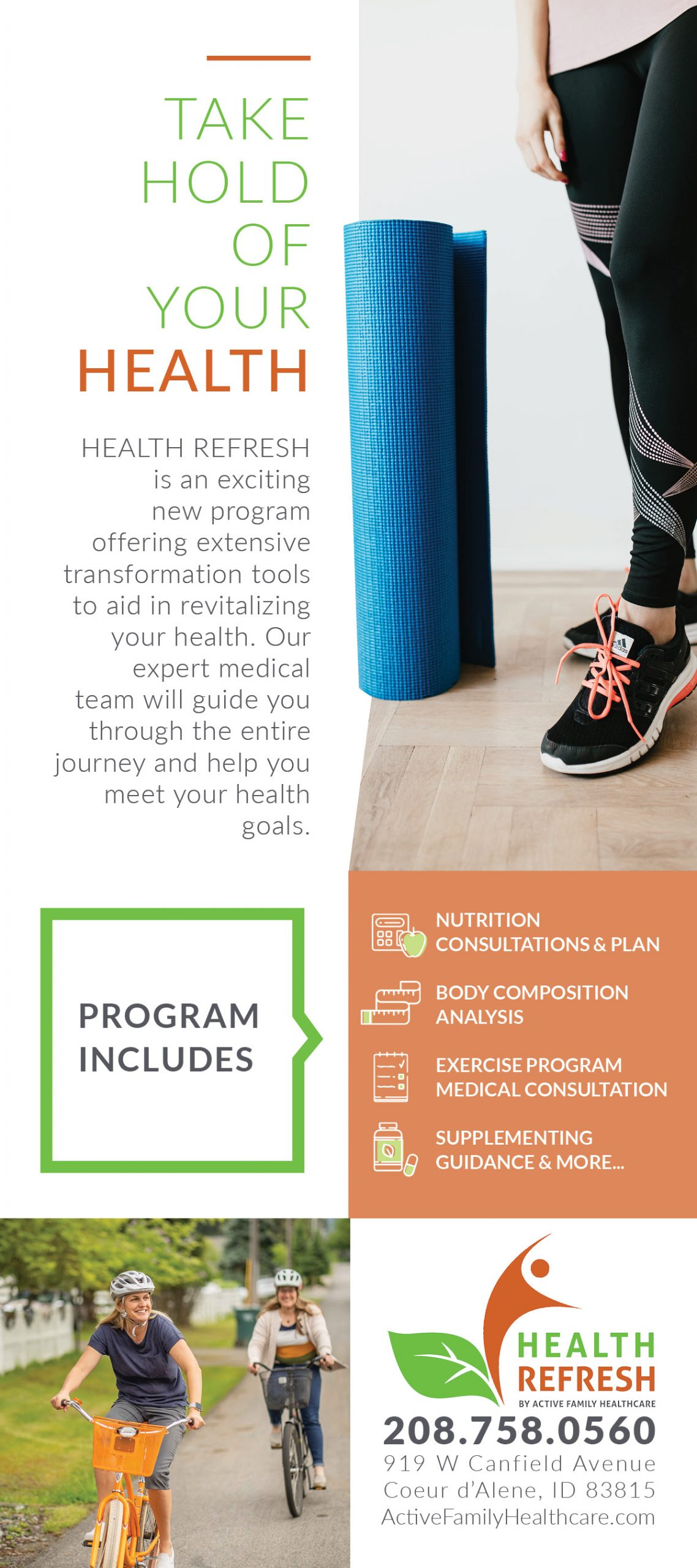Active Family Health Refresh Card